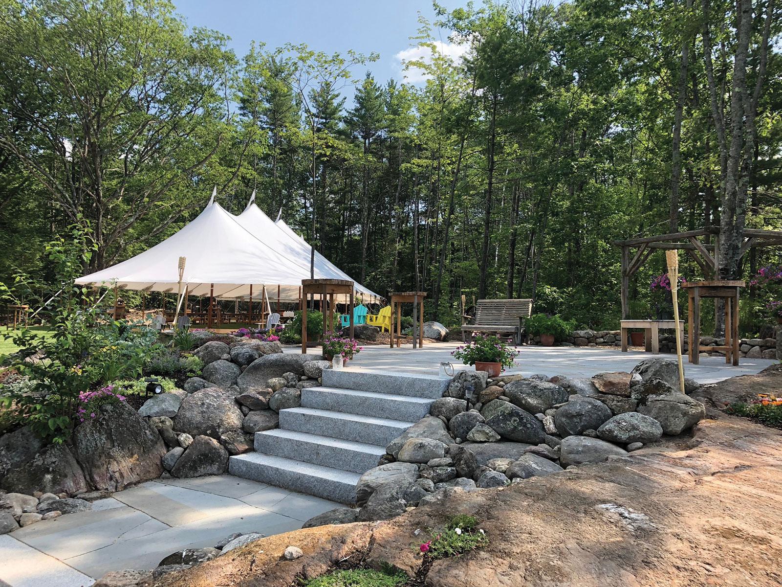 Rustic Stone Garden Design New Hampshire Home Magazine