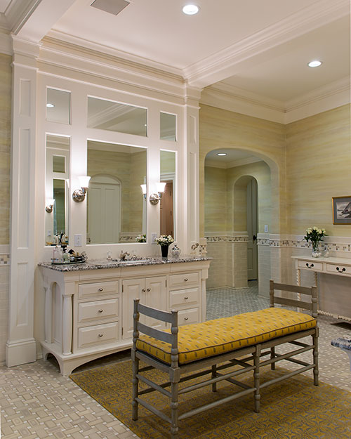 Bathroom by Allison Williams Interiors in Hanover, NH